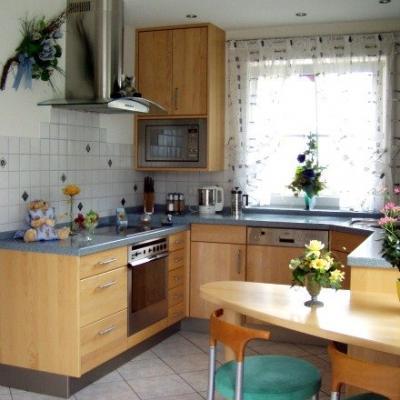 Küche in Ahorn Eigenanfertigung Arbeitsplatte Elements