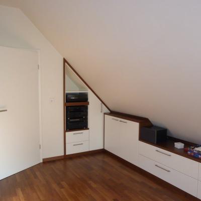 Einbaumöbel Dachgeschoß Schlafzimmer